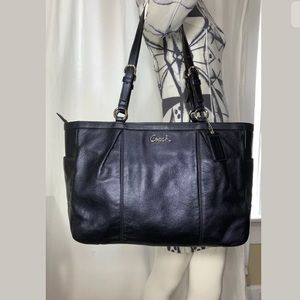 Coach Navy Leather Gallery Large Tote Bag F17722